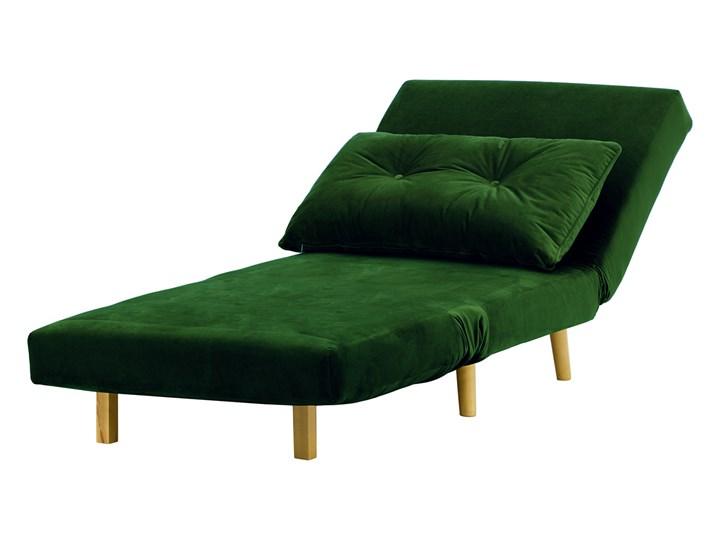Fotel rozkładany Flic 77 cm Tkanina Wysokość 78 cm Drewno Głębokość 90 cm Styl Vintage