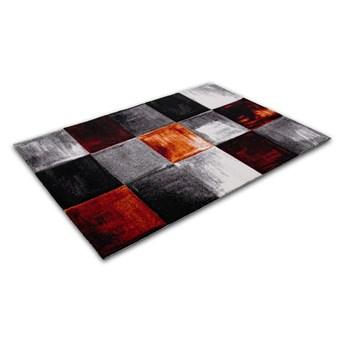 Dywan Diamond 3D Kwadraty szaro-pomarańczowe 120 cm x 170 cm