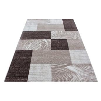 Dywan nowoczesny Parma kwadraty brązowy 80 cm x 150 cm