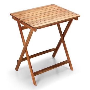 Ogrodowy składany stolik z drewna akacji Le Bonom