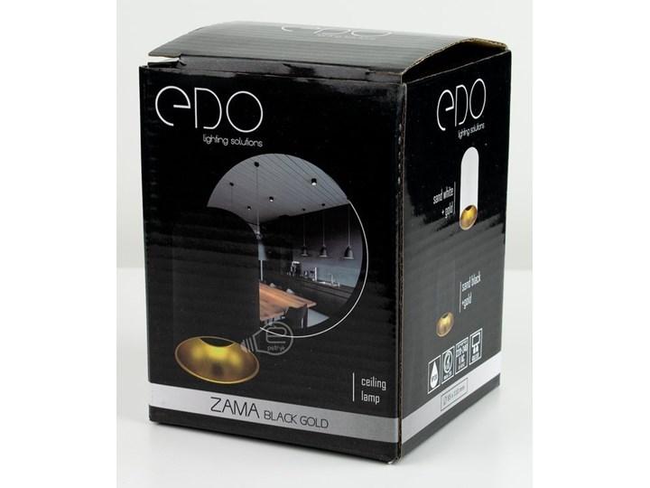 Punktowa oprawa sufitowa natynkowa ZAMA Black Gold GU10 okrągła czarna, środek złoty IP20 EDO777343 EDO Okrągłe Oprawa stropowa Kolor Czarny