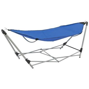 Niebieski hamak ze składanym stojakiem - Lakris