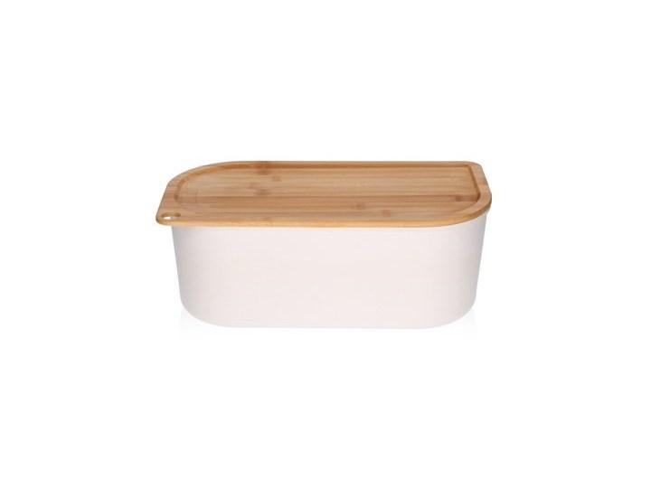 Chlebak z deską do krojenia DUKA BAMBOO 35x19 cm biały bambus Kategoria Chlebaki