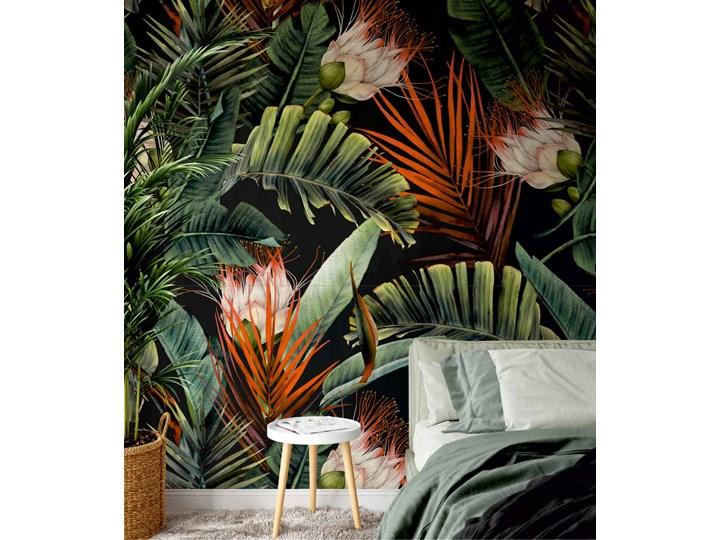 Tropikalne kwiaty - tapeta Tapety do sypialni Kolor Zielony Tapety do salonu Wzór Roślinny