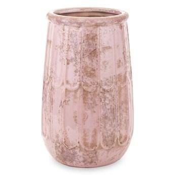 Donica ceramiczna wysoka różowa patynowana IZA  23x13x13cm
