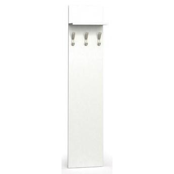 Garderoba z wieszakami PRIMO, 3 haczyki, półka, biały
