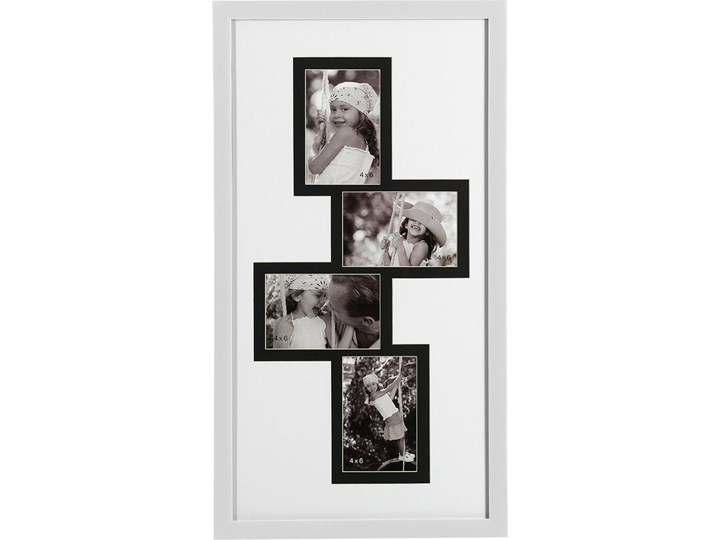 Ramka do zdjęć 33x63 Retto biała Tworzywo sztuczne Multiramka Kolor Biały Pomieszczenie Sypialnia