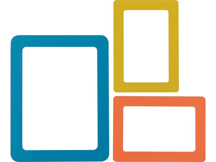 Ramki magnetyczne do zdjęć kolorowe kpl 3 szt. Kolor Pomarańczowy Multiramka Kategoria Ramy i ramki na zdjęcia