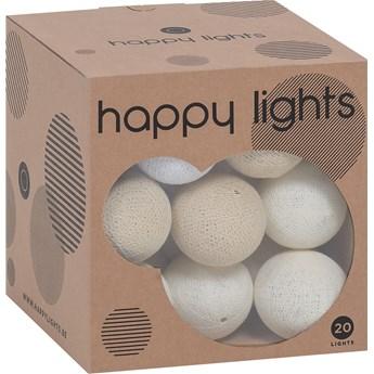 Lampki Happy Lights kremowe