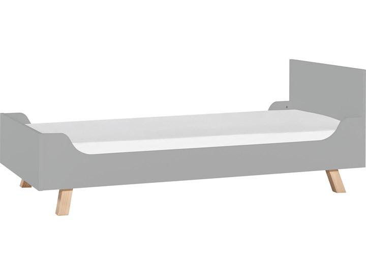 Łóżko 1-osobowe 90x200 Tradycyjne Drewno Płyta MDF Płyta meblowa Liczba miejsc Jednoosobowe