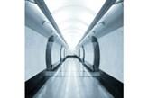 Fototapeta F136 - Szary korytarz