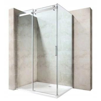 KABINA PRZESUWNA 100x80 szkło 6 mm+BRODZIK+ SYFON