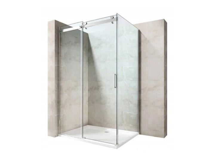 KABINA PRZESUWNA 100x80 szkło 6 mm+BRODZIK+ SYFON Prostokątna Rodzaj drzwi Rozsuwane