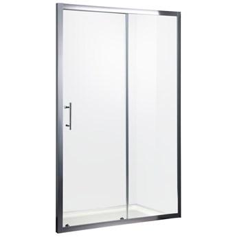 Drzwi prysznicowe szklane przesuwne wnękowe jednoskrzydłowe Easy Slider 100-120 cm