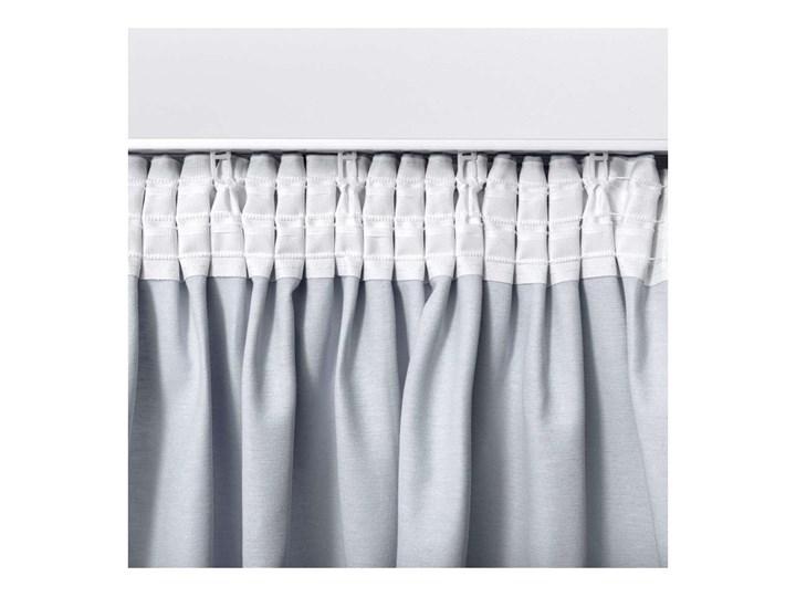 Zasłona na taśmie marszczącej 1 szt., śmietankowa biel, 1szt 130 × 260 cm, Loneta 130x260 cm Bawełna Pomieszczenie Salon Zasłona zaciemniająca Poliester Pomieszczenie Jadalnia