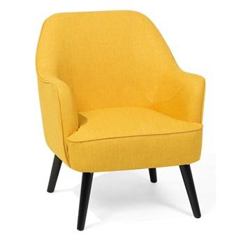 Fotel klubowy żółty styl retro