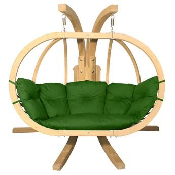 Zielony fotel kula do ogrodu - Parys 3X