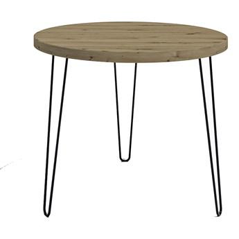 Stół okrągły z blatem Dąb artisan - Asta