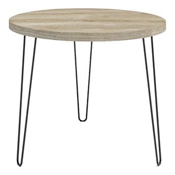 Okrągły stół z blatem Dąb brunico - Asta