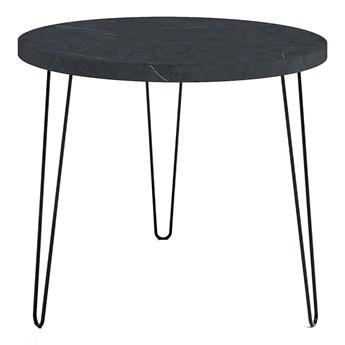 Stół okrągły z blatem Wytrawny szary kamień - Asta