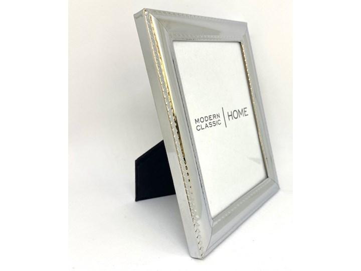 POPIERSIE DEKORACYJNE Duże BIAŁE ATENA 13x12x46 cm Ramka na zdjęcia Metal Kolor Srebrny Pomieszczenie Salon