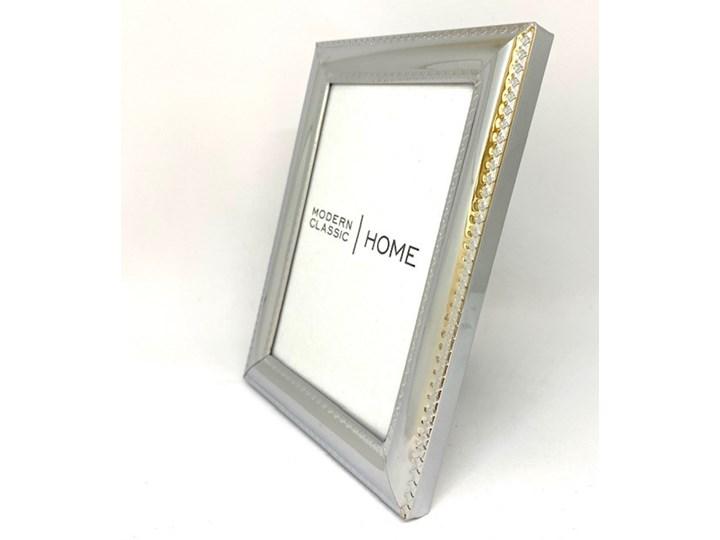 POPIERSIE DEKORACYJNE Duże BIAŁE ATENA 13x12x46 cm Ramka na zdjęcia Kolor Srebrny Metal Pomieszczenie Salon
