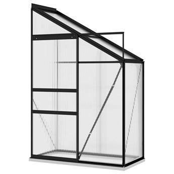 vidaXL Szklarnia, antracytowa, aluminium, 1,44 m³