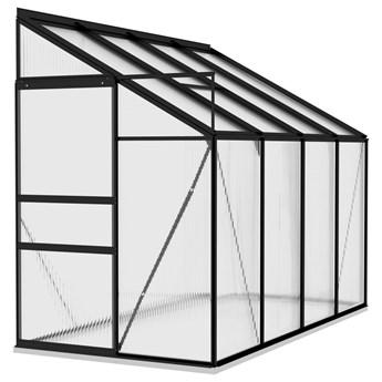 vidaXL Szklarnia, antracytowa, aluminium, 5,24 m³