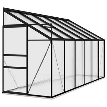 vidaXL Szklarnia, antracytowa, aluminium, 7,77 m³