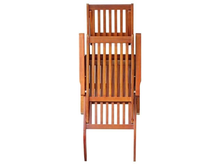 vidaXL Leżak tarasowy z podnóżkiem i poduszką, lite drewno akacjowe Styl Rustykalny