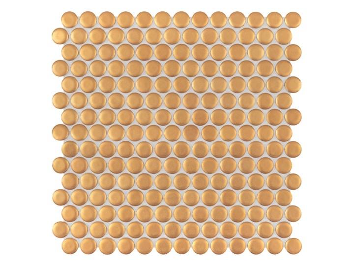 Miss Penny Gold matt 27,2x27,5 mozaika gresowa Płytki podłogowe Płytki ścienne Kolor Złoty Płytki kuchenne Nieregularny 27,5x27,5 cm Okrągły 25,2x27,5 cm Powierzchnia Matowa