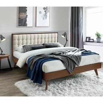 Łóżko SOLOMO Vintage 160 Beż/Orzech Industrialny