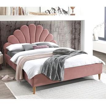 Łóżko SANTANA VELVET 160 Różowy Aksamit Signal