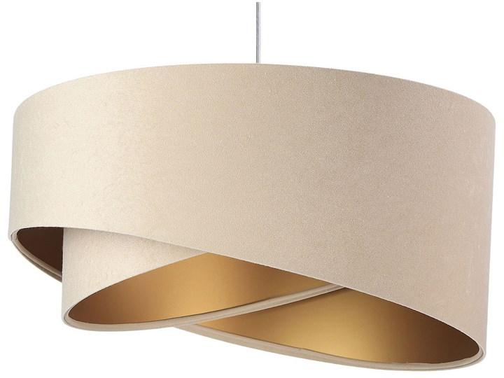 Beżowo-złota lampa wisząca glamour - EX982-Sonelo Lampa inspirowana Lampa z kloszem Tworzywo sztuczne Styl Nowoczesny Lampa z abażurem Tkanina Żyrandol Metal Kategoria Lampy wiszące