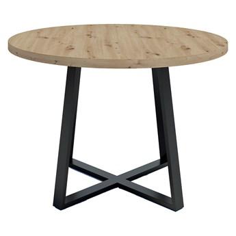 Okrągły stół z blatem Dąb artisan - Evert