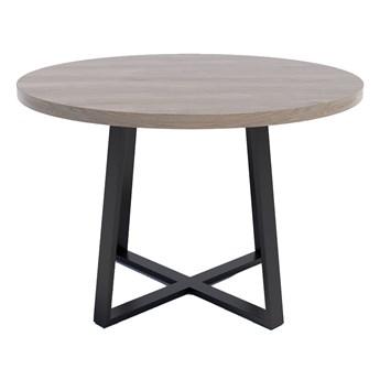 Stół typu X z okrągłym blatem Dąb brunico - Evert