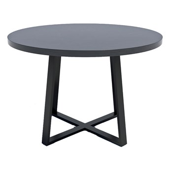 Loftowy stół z okrągłym blatem Wytrawny szary kamień - Evert