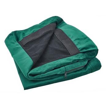Pokrowiec na sofę 3-osobową zielony welurowy wymienna narzuta ochraniacz z zamkiem