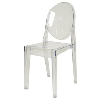 Krzesło Designerskie CRISTINA transparentne bezbarwne kolor: bezbarwny (transparentny), Materiał: poliwęglan, EAN: 5903949790115