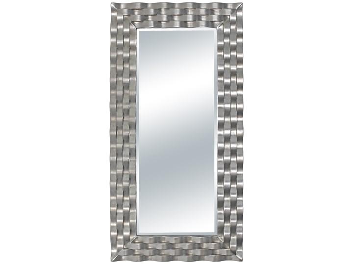 LUSTRO DOLCE w srebrnej ramie prostokąt 76X152 kolor: srebrny, Materiał: poliuretan, rozmiar ramy: 7 ...