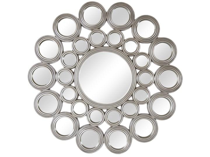 LUSTRO Charlotte w srebrnej okrągłej ramie FI 118  kolor: srebrny, Materiał: poliuretan, rozmiar ramy: FI 118, rozmiar lustra: FI 39, EAN: 5903949790566 Pomieszczenie Sypialnia