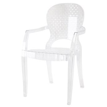 Krzesło designerskie BOB Glamour transparentne bezbarwne kolor: bezbarwny (transparentny), Materiał: poliwęglan, EAN: 5903949790191