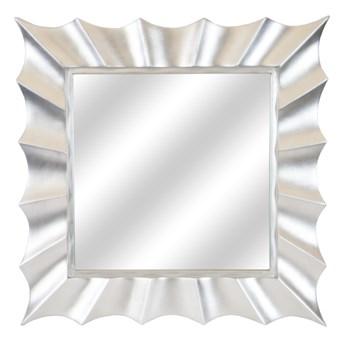 LUSTRO SOLE w srebrnej ramie kwadrat kolor: srebrny, Materiał: poliuretan, rozmiar ramy: 91/91/5, rozmiar lustra: 58/58, EAN: 5903949790351