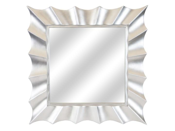LUSTRO SOLE w srebrnej ramie kwadrat kolor: srebrny, Materiał: poliuretan, rozmiar ramy: 91/91/5, rozmiar lustra: 58/58, EAN: 5903949790351 Ścienne Styl Klasyczny