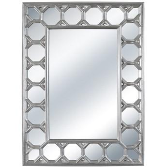 LUSTRO VENEZIA w srebrnej ramie prostokąt 103X139 kolor: srebrny, Materiał: poliuretan, rozmiar ramy: 103/139/4, rozmiar lustra: 57/93, EAN: 5903949790658