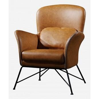 Fotel skórzany Bari Brąz
