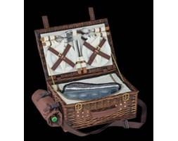 Kosz piknikowy - Cilio - Varese - brązowy