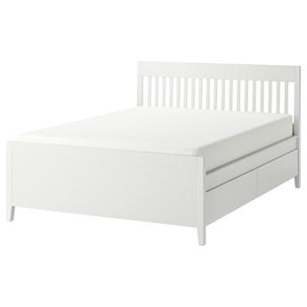IKEA IDANÄS Rama łóżka z szufladami, Biały, 140x200 cm