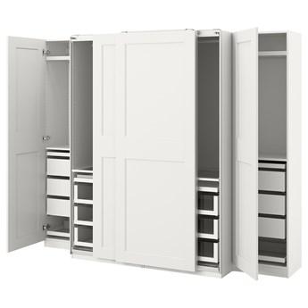IKEA PAX / GRIMO Kombinacja szafy, biały, 250x66x201 cm