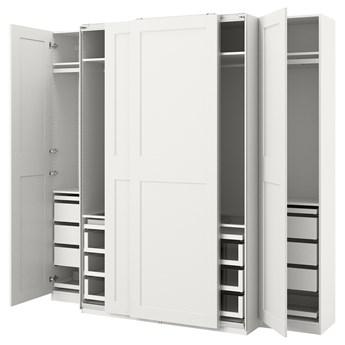 IKEA PAX / GRIMO Kombinacja szafy, biały, 250x66x236 cm